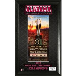 Alabama 2015 College Football National Champions Ticket Pano