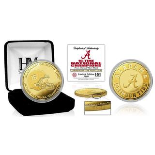 University of Alabama 16-Time Football National Champions Gold Mint Coin