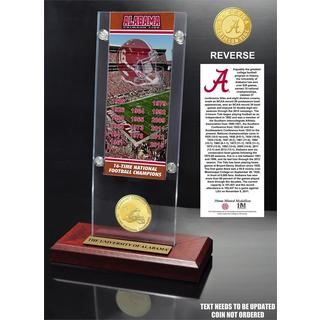 University of Alabama 16-Time Football National Champions Ticket & Bronze Coin Acrylic Desk Top