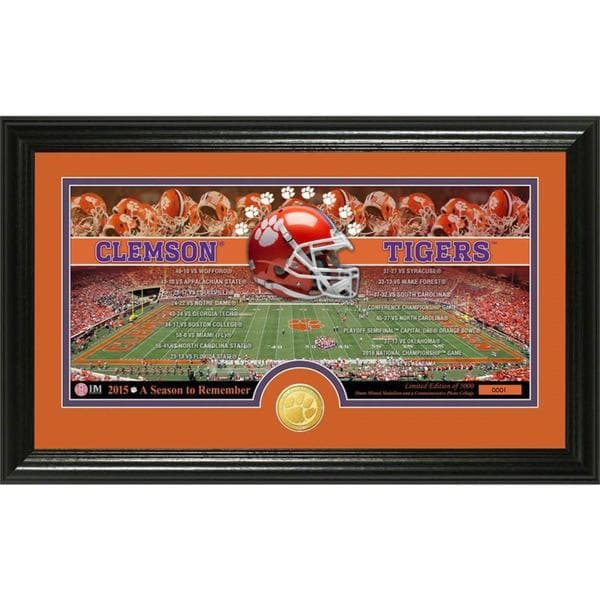 """Clemson University """"A Season to Remember"""" Bronze Coin Panoramic Photo Mint"""