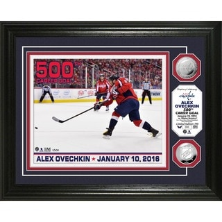 "Alex Ovechkin ""500th Career Goal"" Silver Coin Photo Mint"