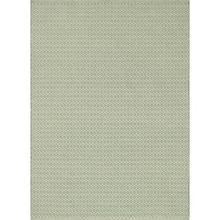 Indoor/ Outdoor Earth Tone Flatweave Jade Rug (3'6 x 5'6)
