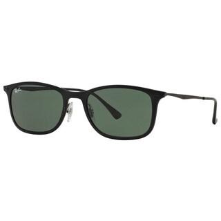 Ray-Ban RB4225 601S71 New Wayfarer Light Ray Unisex Black Frame Green Classic 52mm Lens Sunglasses