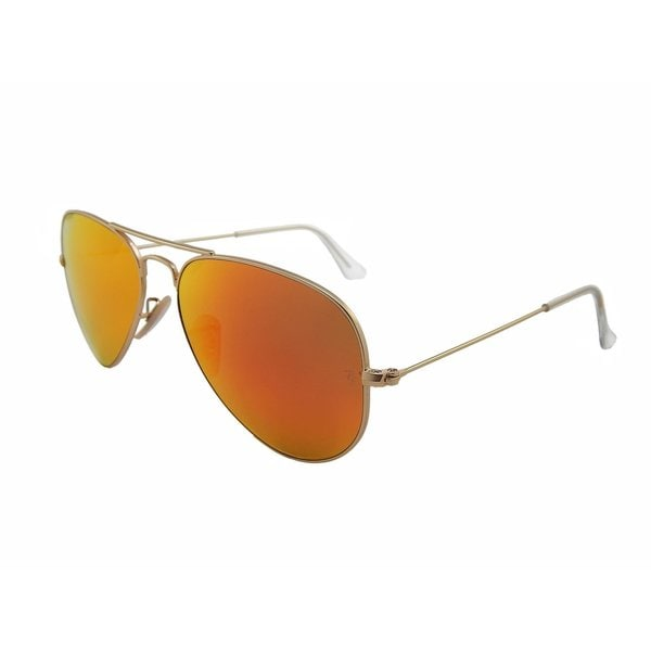 Ray-Ban RB3025-112-4D-58 Unisex Aviator Flash Gold Frame Red Flash 58mm Lens Sunglasses