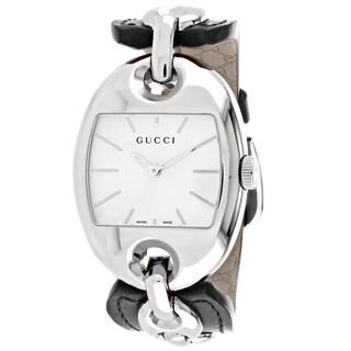 Gucci Women's YA121312 Marina Tonneau Dark Brown Leather Strap Watch