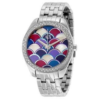 Armani Exchange Women's AX5526 Serena Multi-colored Mosaic Watch