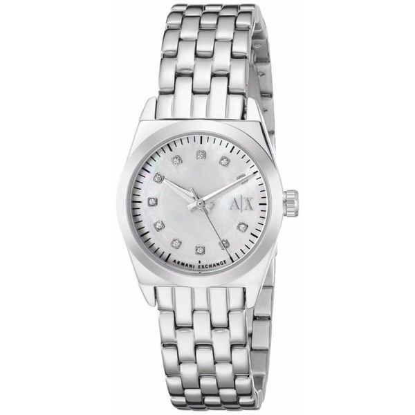 Armani Exchange Women's AX5330 Miss Jackson White MOP Watch
