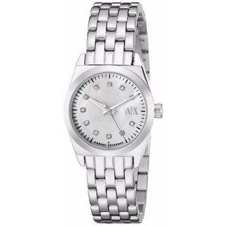 Armani Exchange Women's AX5330 Miss Jackson White MOP Watch