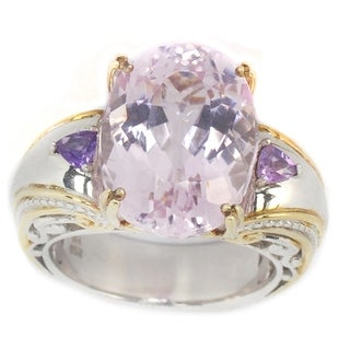 One-of-a-kind Michael Valitutti Kunzite & Amethyst Ring