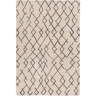 Hand-Knotted Canalasso Wool/Cotton Rug (8' x 10')