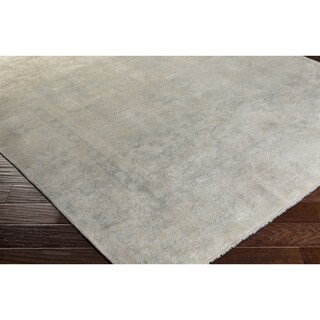 Hand-Knotted Bayberry Wool/Silk Rug (6' x 9')