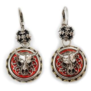 Sweet Romance Steer Skull Conchito Earrings