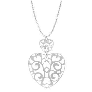 Pori Sterling Silver Fancy Hearts Necklace