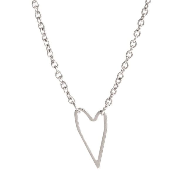 Pori Sterling Silver Bent Heart Necklace