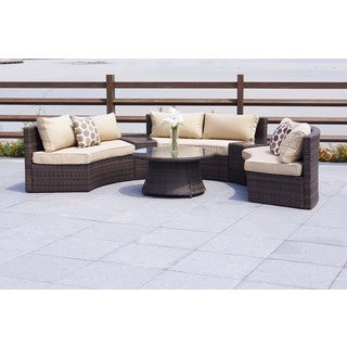 Emily 6 PC Curved Sectional Patio Set