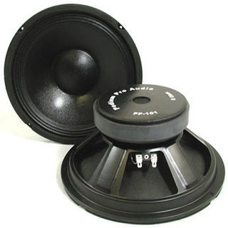 Podium Pro PP101 Pro Audio 10-inch Replacement Raw Woofer Pair Subs DJ PA
