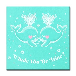 Ready2HangArt 'Whale you Be Mine?' Canvas Art