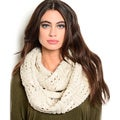 Shop the Trends Women's Thick and Textured Cable Style Knit Infinity Scarf