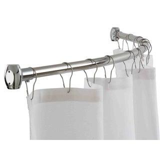 Home Basics Chrome 72-inch Curved Shower Curtain Rod