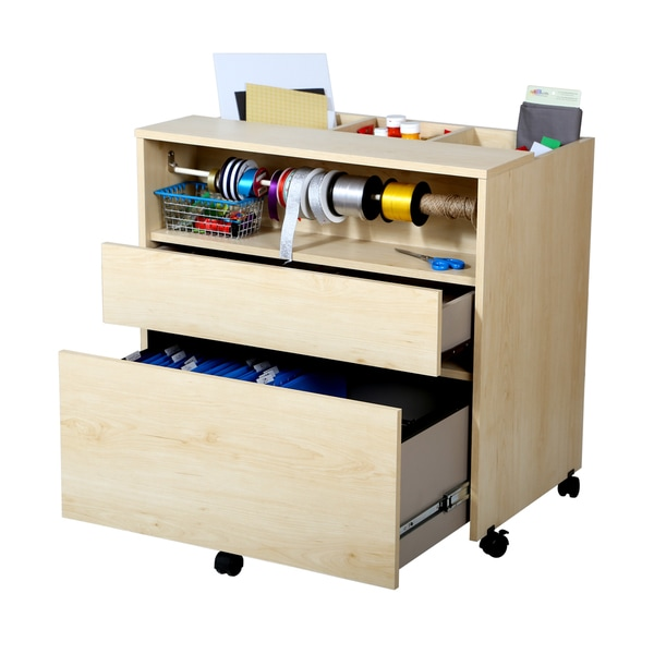 South Shore Crea Craft Storage Cabinet on Wheels