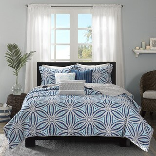 Madison Park Paros Blue 6-piece Coverlet Set