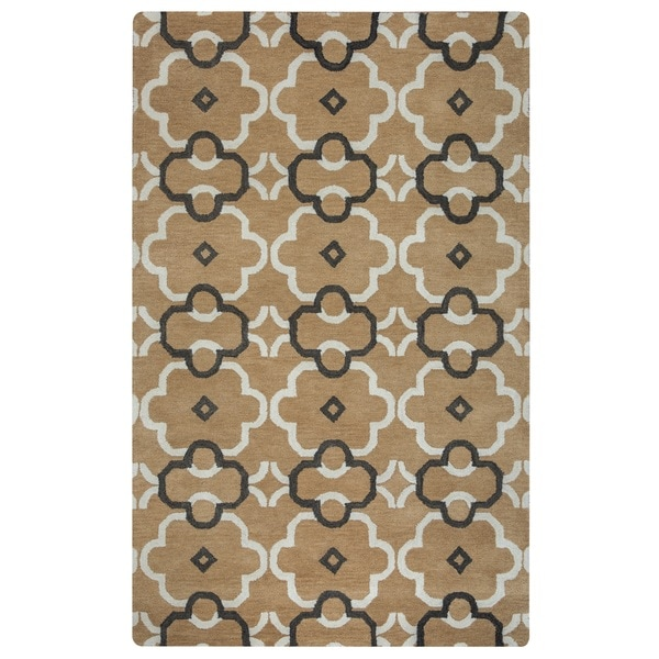 Rizzy Home Opus Collection Ornamental Brown Accent Rug (2' x 3')