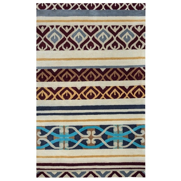 Rizzy Home Pandora Collection Multi-Colored Abstract Accent Rug - 2' x 3'