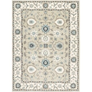 Home Dynamix Oxford Collection Beige/Cream Transitional Machine Made Polypropylene Area Rug (5'2 x 7'2)