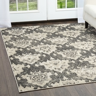 Cambridge Taupe/Grey Ornamental Rug (7'10 x 10'2)