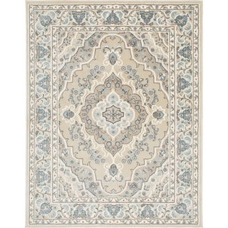 Home Dynamix Oxford Collection Beige/Cream Ornamental Machine Made Polypropylene Area Rug (5'2 x 7'2)