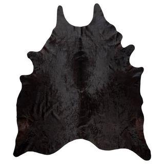 Andes Black Cowhide Rug (4'4 x 6'6)