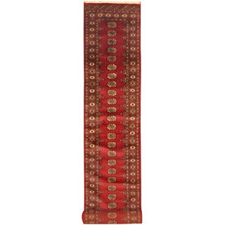 Herat Oriental Pakistan Hand-knotted Bokhara Red/ Black Wool Runner (2'7 x 20'6)