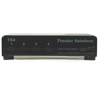 Theater Solutions TS4 Home Audio Speaker Selector Box One Source to Four Pair Switcher