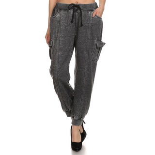MOA Collection Women's Loose Fit Cargo Sweat Pants