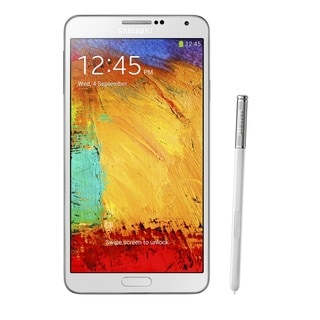 Samsung Galaxy Note 3 N900 32GB Verizon/Unlocked GSM Cell Phone-White (Refurbished)