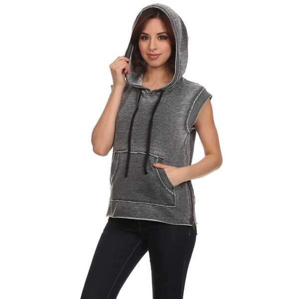 Women S Sleeveless Pull Over Hoodie 18121222 Overstock