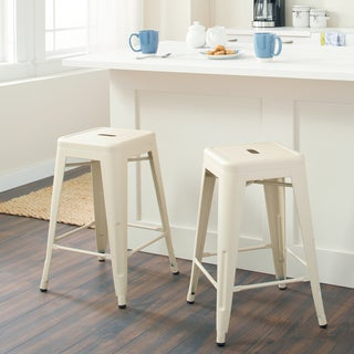 Tabouret 24-inch Cream Counter Stool (Set of 2)