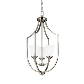 Sea Gull Hanford 3 Light Brushed Nickel Hall Foyer Fixture
