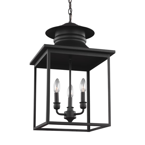 Sea Gull Huntsville 3 Light Blacksmith Hall Foyer Fixture