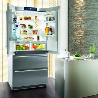 Liebherr CBS 2062 Premium NoFrost 36 Inch Freestanding or Semi Built-in French Door Refrigerator/Freezer, Ice Maker, BioFresh