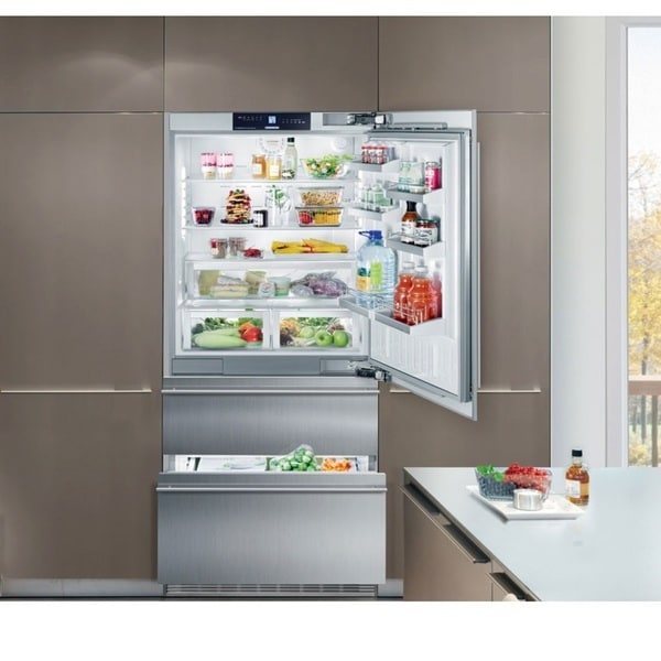 Liebherr CS 2060 36 inch Freestanding or Semi Built-in Refrigerator Freezer, Stainless Steel, Counter depth, Ice Maker