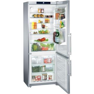 Liebherr CS 1640 Premium NoFrost 30 inch Freestanding or Semi Built-in Refrigerator & Freezer, SmartSteel, Ice Maker