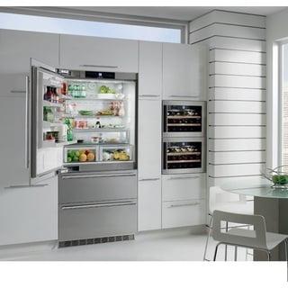Liebherr CS 2061 NoFrost 36 inch Freestanding or Semi Built-in Refrigerator Freezer, Stainless Steel, Counter depth, Ice Maker