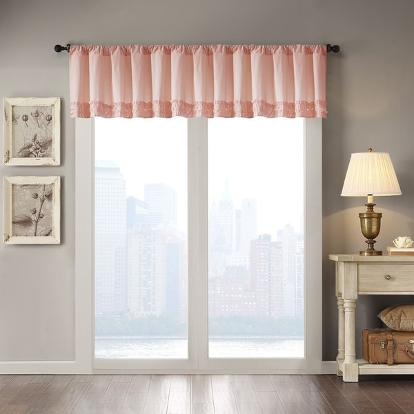 Madison Park Kylie Cotton Horizontal Ruffle Valance