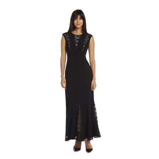 R&M Richards Women's Godet Evening Gown