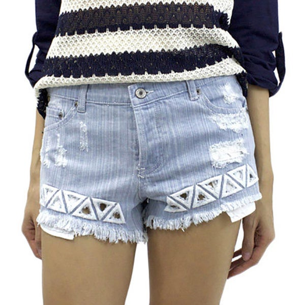 Women's Love Triangle Denim Shorts