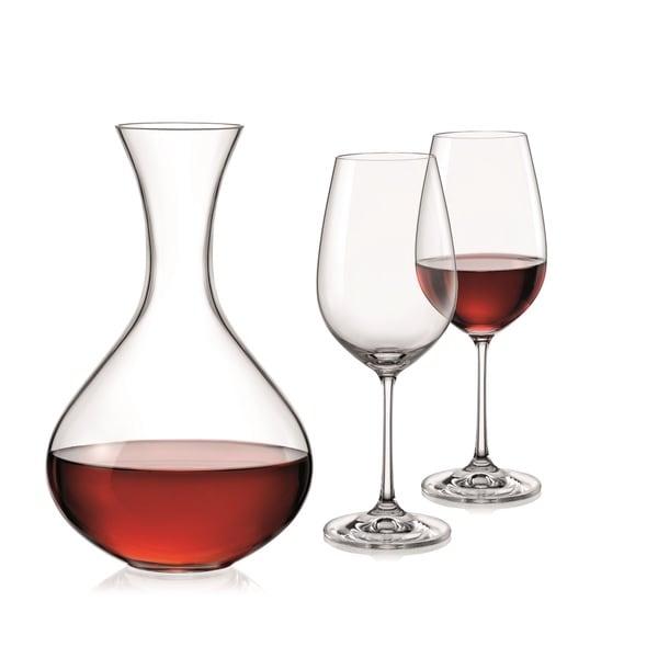 Red Vanilla Viola 3Pc Wine Set