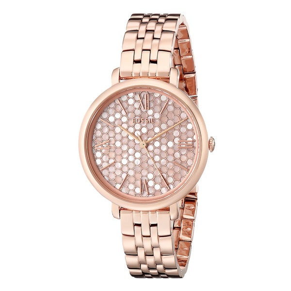 Fossil Women's ES3804 Jacqueline Mosaic Mother Of Pearl Dial Rose-Tone Gold Stainless Steel Bracelet Watch