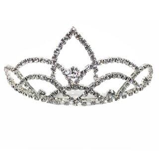 Kate Marie CWN-YC10801 Rhinestone Silver Crown Tiara Headband