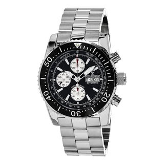 Revue Thommen Men's 17030.6137 'Air Speed' Black Dial Stainless Steel Chronograph Swiss Automatic Watch